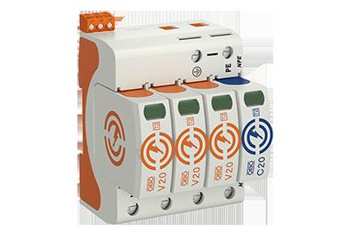 V20 -3+NPE+FS-280 (3 polig + NPE + meldcontact) 40kA