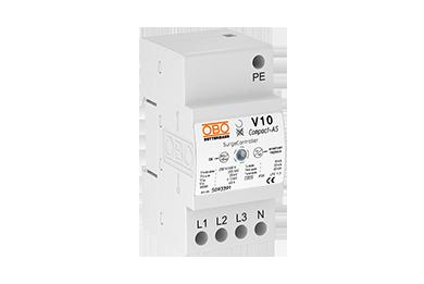 V10 COMPACT-AS 255 (3 polig + NPE + akoustisch signaal) 60kA