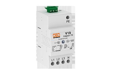 V10 COMPACT-FS 255 (3 polig + NPE + meldcontact) 60kA