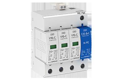 V10-C 3+NPE+FS-280 (3 polig + NPE + meldcontact) 40kA