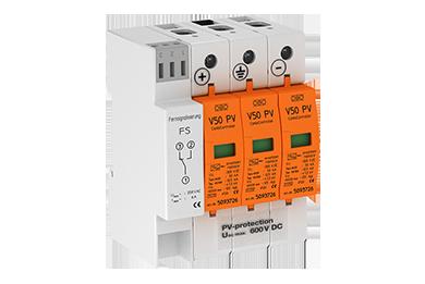 V50-B+C 3-PHFS600 DC Type I-II voor PV systemen tot 600V met meldcontact