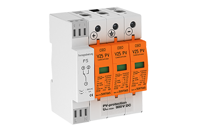 V25-B+C 3-PH900 DC Type I-II voor PV systemen tot 900V met meldcontact